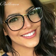 Bellcaca Optical Eyeglasses Women Fashion Prescription Spectacles Trendy Accessories Glasses Frames Clear Lens Eyewear BC816