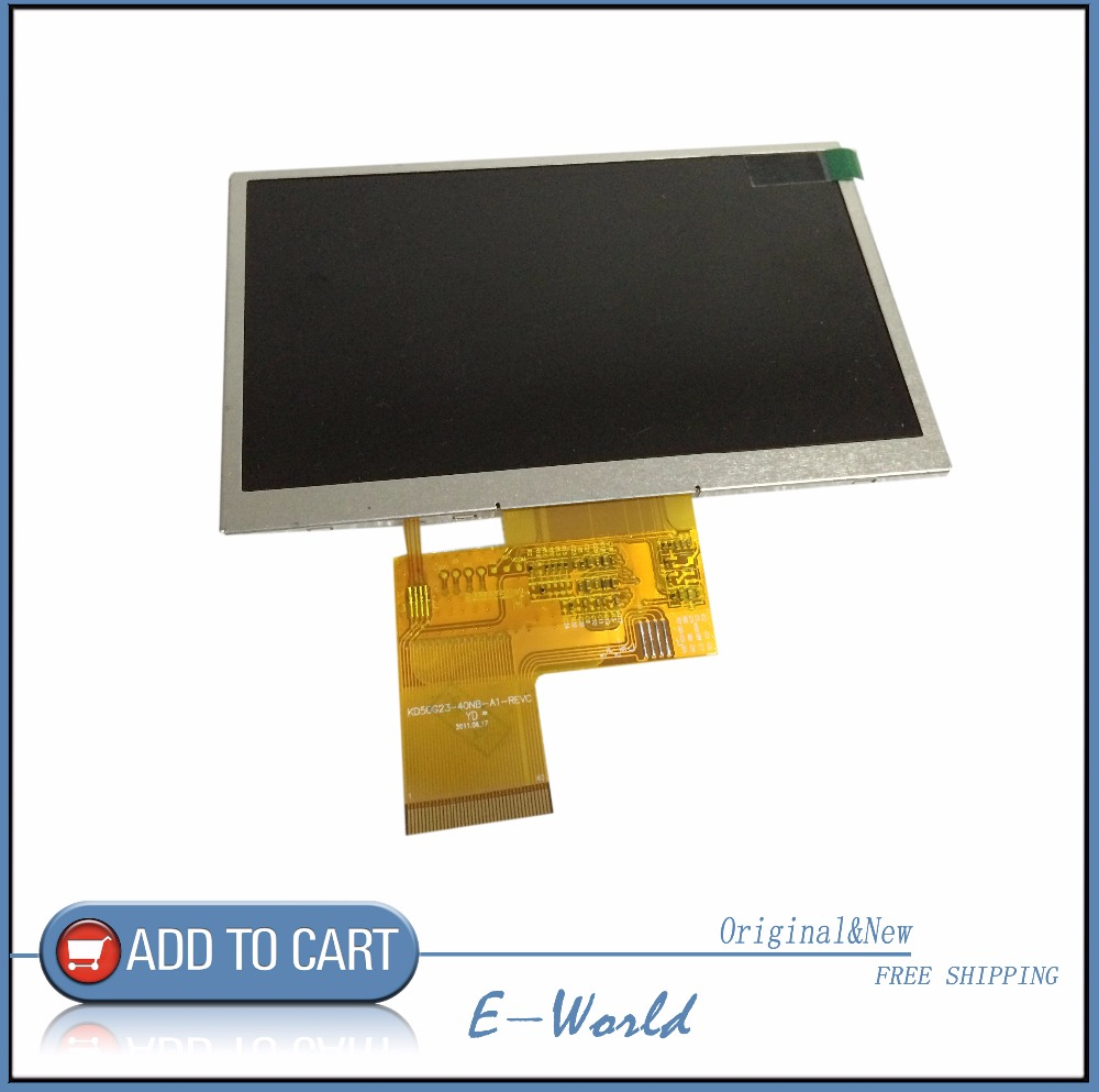 New 5inch LCD Screen For GPS Tape Tp Kd50g23-40nb-a1-revc Gps LCD Screen Kd50g23-40nb-a1 Sensor Replacement Free Shipping