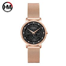 Top Brand Luxury Ladies Crystal Dress Wrist Watches Women Bracelet Watch Fashion 3D Sculpture Quartz Watch Steel Mesh Clock Gift delicate women watches ultrathin stainless steel mesh band fashion quartz wrist watch ladies watch clock wristwatches gift pt