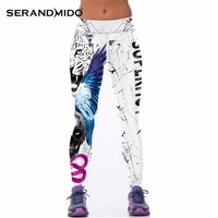 High Waist Leopard Tiger Printed Sports Leggings Fitness Gym Clothing For Women 2016 New Running Pants