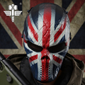 UK Flag Masks Tactical Riding Sport Soldier Ghost Full Face Mask Breathable War Game Skull Funny Mask Cosplay Killer Mask