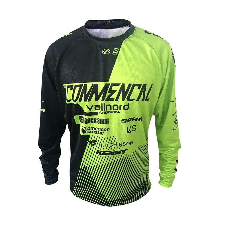 Prix pour Été descente montagne moto équitation équipement uniforme commencal rapide-séchage air est empêché se dorent dans moto maillots vélo