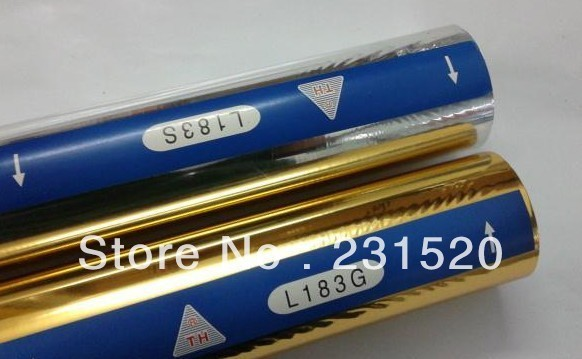 Hot foil stamping rolls Silver and Gold Color special for Leather, 2 rolls. 64cmx120m/roll
