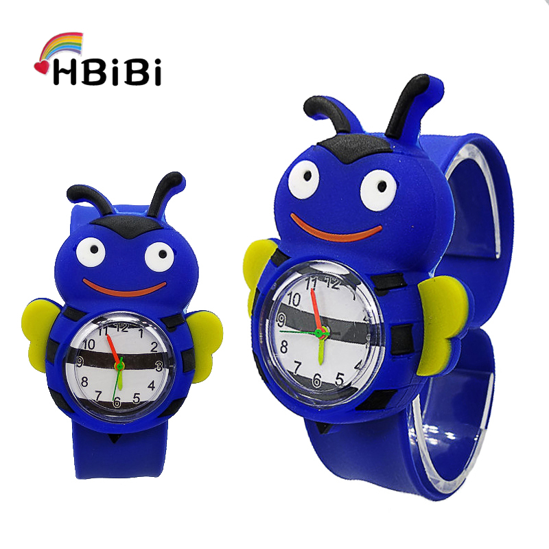Fashion Hbibi Brand Bee Kids Slap Pat Watches Sport Chicken Children Wrist Watch Student Hot Sale Baby Gift Child Quartz Watch Children's Watches