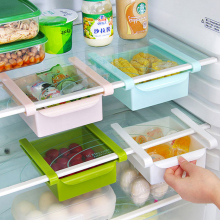 4 Pcs/Set Creative Plastic Refrigerator Storage Holder Fridge Rack Pull-out Box Storage Organizer Home Kitchen Tool Hot sale