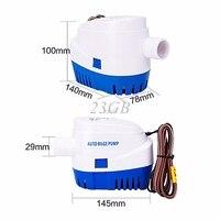 Submersible Water Pump Automatic Bilge Float Switch 1100GPH 12V Boat Marine JUN23 25