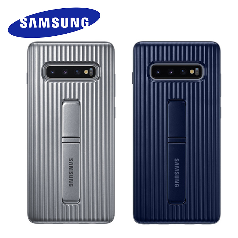 Original Samsung Galaxy S10 Plus Standing Phone Case Ultimate Device Rugged Protection Cover For Galaxy S10 S9 S8 Plus Note 9 8
