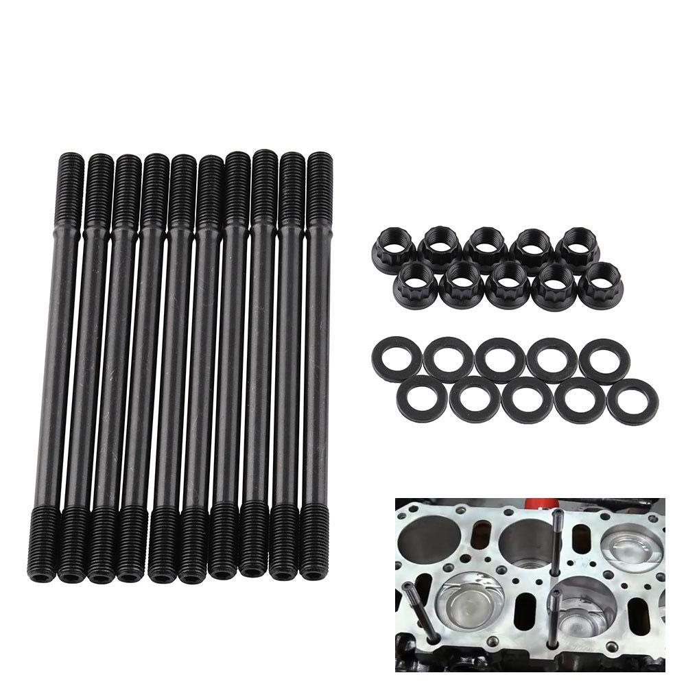 30PCS Professional Car Cylinder Head Screw Stud Kit for Honda B18C1 Auto Replacement Parts Set