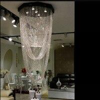 Duplex piso longos lustres luzes das escadas villa led piso na sala de estar do hotel lustres de cristal lâmpada do teto levou|chandelier staircase|floor chandelier|led ceiling lamp lighting -