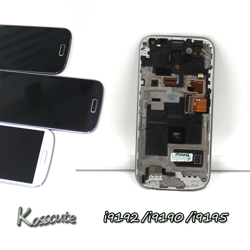 For Samsung S4 mini LCD Display Touch Screen Digitizer with Frame Assembly For Samsung Galaxy S4 Mini i9190 i9195 i9192 Screen
