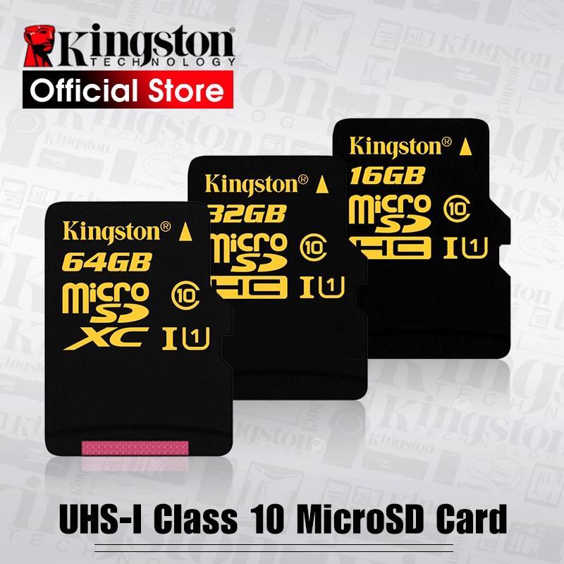 Kingston flash card Class 10 Micro SD Card UHS-I 90R/45W microSDHC Memory card(SDCA10/16GB/32GB/64GB)