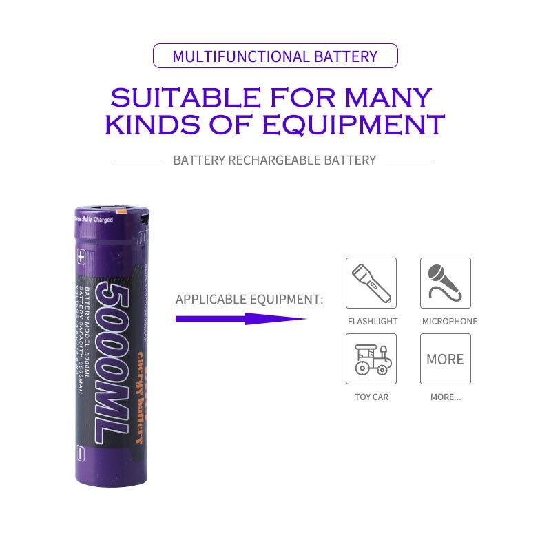 Laptop battery 8PCS Liter energy battery USB 5000ML Li ion Rechargebale battery USB 18650 3500mAh 3.7V Li ion battery + USB wire-in Laptop Batteries from Computer & Office