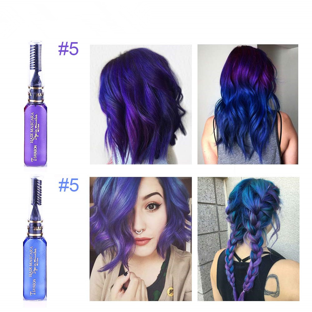 13 Colors One-off Hair Color Dye Temporary Non-toxic DIY Hair Color Mascara Washable One-time Hair Dye Crayons 3