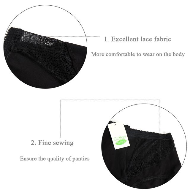 Spandex Mid-Rise Underwear Plus Size Lady Knickers