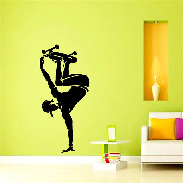 High Quality Cool Skateboard Wall Decal Skater Sports Boys Room ...