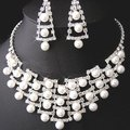 Fashion Necklaces Earrings Rhinestone Crystal Wedding Bridal Jewelry Sets Party Jewellery For Women