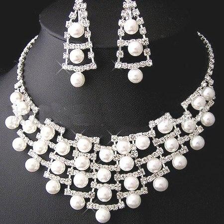 Fashion Necklaces Earrings Rhinestone Crystal Weddis