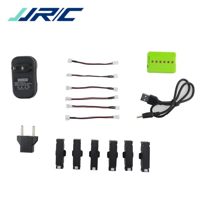 JJRC H37 Mini RC Quadcopter Spare Parts 4 / 5 / 6Pcs 3.7V 400mah 25C Battery And Charger Set X4/5/6A-A17 Accessories Accs jjrc h20c rc quadcopter spare parts receiver board