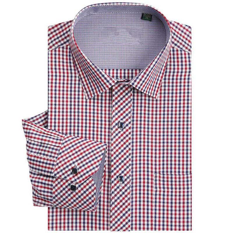 Брендовая мужская классическая клетчатая рубашка с длинными рукавами, мужские рубашки для бизнеса, торжественных случаев, мужская одежда Camisa Masculina
