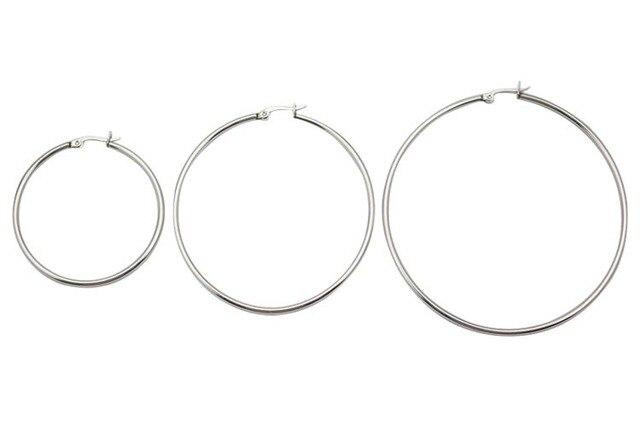 9d6e55066041 2014 venta caliente de moda de acero quirúrgico grandes pendientes de aro  redondo 3 unid Sets