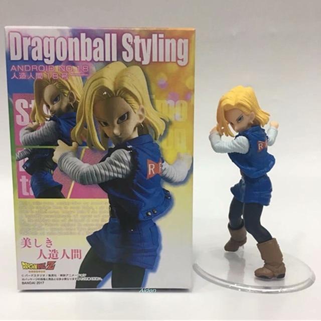 """7 """"Dragon Ball Z Estilo Android NO.19 18 lazuli Kulilin Esposa PVC Action Figure Collectible Modelo Toy BOX 18 CM B555"""