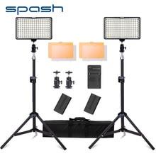 Spash TL 160S LED Luce Video Luce Della Macchina Fotografica con 200 centimetri Treppiede Fotografia di Illuminazione A LED Studio Lampade per Youtube