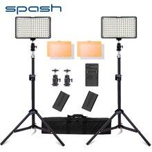 Spash TL 160S ledビデオライト写真ライト200センチメートル三脚スタンドの写真撮影の照明ledメーカーランプyoutubeの
