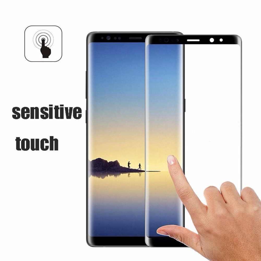 3D التغطية الكاملة شاشة زجاج عليه طبقة غشاء رقيقة لسامسونج غالاكسي ملاحظة 8 Note8 N950FD N950 واقي للشاشة زجاج واقي فيلم حالة غطاء