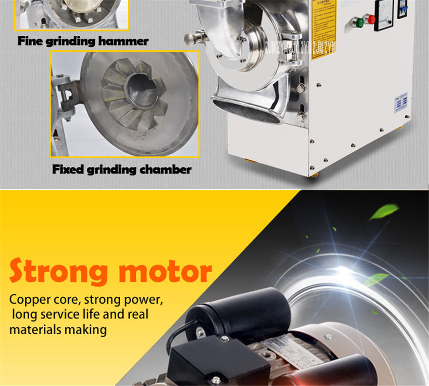 DLF-70 High efficient continuous grinding machine herbal grinder superfine power machine Stainless steel Material 5200r/min 6
