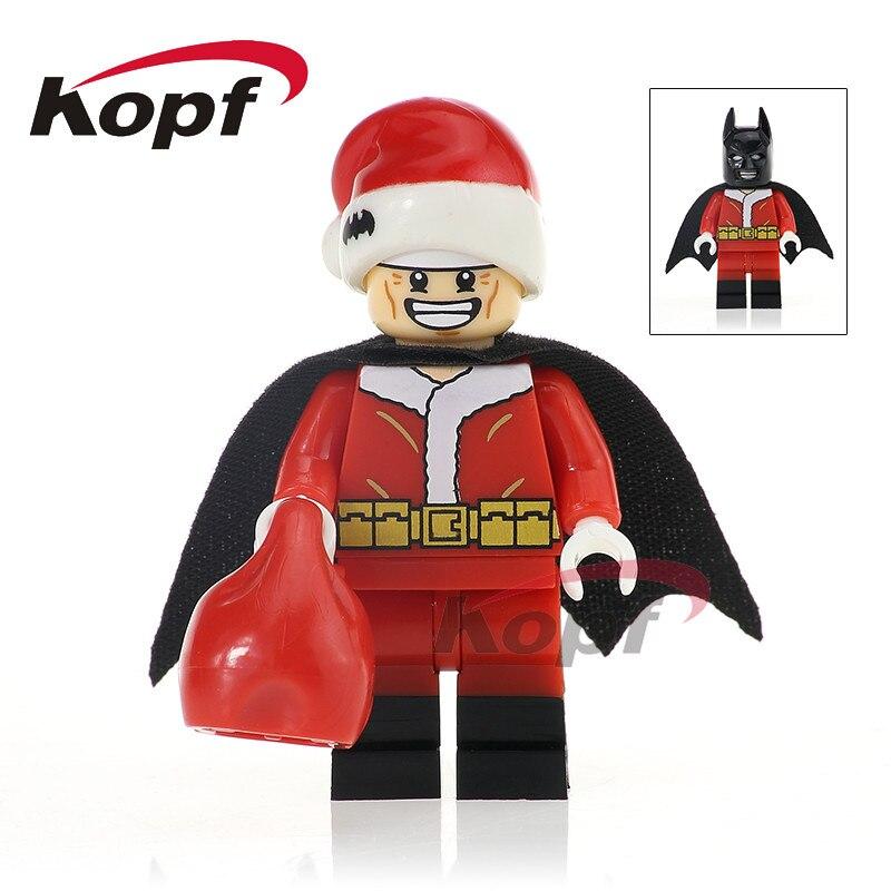 Single Sale Super Heroes Merry Christmas Boy Joker Clone Trooper Wiley Jack Skellington Building Blocks Children Toys Gift X0154