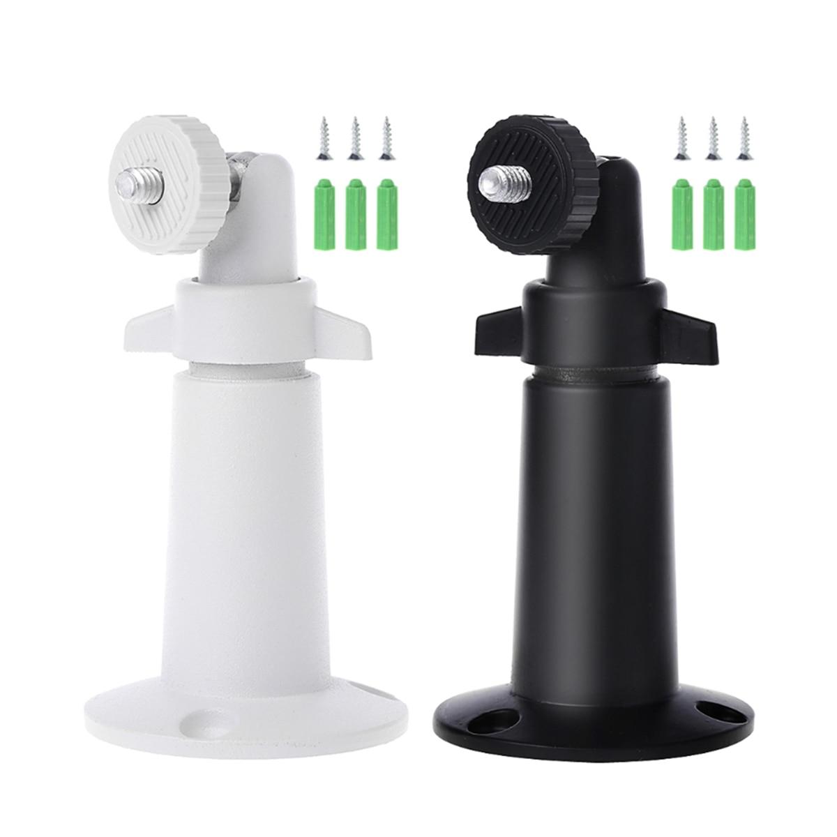 3 piezas de 90 grados de pared de Metal de montaje giratorio soporte de techo de soporte para cámara de seguridad CCTV negro blanco
