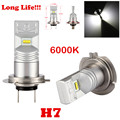 2Pcs Xenon White 6000-6500K 80W 1600 Lumens Lumileds Luxeon ZES Chips H7 LED Car Bulbs for DRL/Fog Lights/ Dipped Driving Bulbs