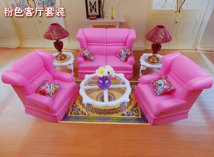 2014 New Pink dream living room sofa furniture Set for barbie doll ...