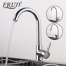 FRUD Kitchen Faucet Hot Cold Water Tap Single Handle Kitchen Sink Faucet Mixer Tap Deck Mounted Faucet for Kitchen