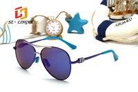 SZ LINGKE Kids Children Sunglasses 2017 Fashion Girls Boys Classical Safe Cute Cartoon Polarized Pilot Eye Glasses UV400 S01P043