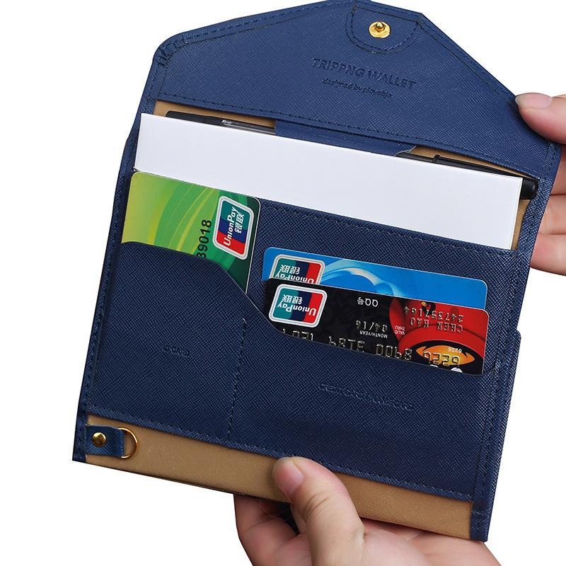 пу пакет путешествия многофункциональный три раза обложка для паспорта анти-деминерализованной поверхности кожи паспорт бумажник обложка сумка