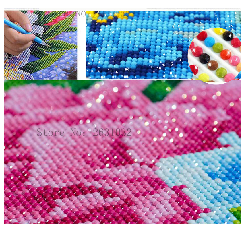 UzeQu Pełna Diament Haft 5D DIY Diament Malarstwo Cross Stitch - Sztuka, rękodzieło i szycie - Zdjęcie 3