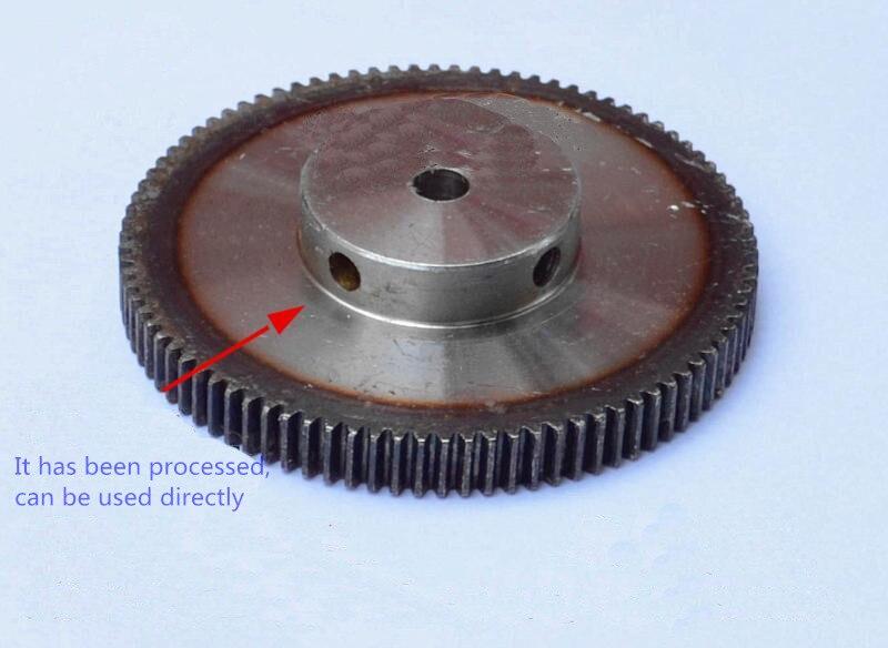 все цены на  Spur Gear pinion 120T 1 mod gear rack 120teeth bore 8mm 10mm  spur gear precision 45 steel cnc rack and pinion  онлайн