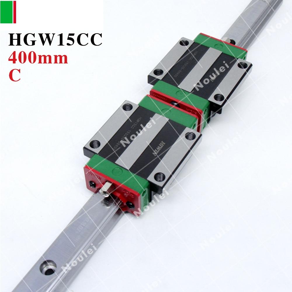 HIWIN HGR15 linear guide rail 400mm with HGW15CC slide block CNC DIY kit HGW15CA HGW15 CA hiwin egr15 3000mm linear guide rail 3000 mm for custom length cnc kit