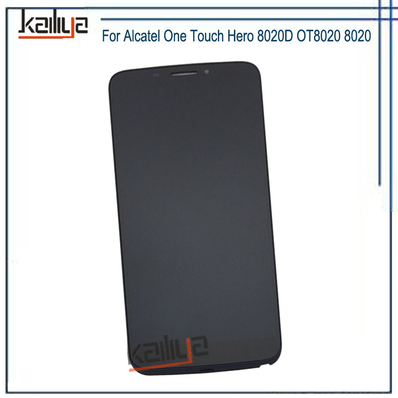 For Alcatel One Touch Hero 8020D OT8020 8020 LCD Display+6.0 Touch Screen Digitizer Assembly Replacement With Frame For AlcatelFor Alcatel One Touch Hero 8020D OT8020 8020 LCD Display+6.0 Touch Screen Digitizer Assembly Replacement With Frame For Alcatel