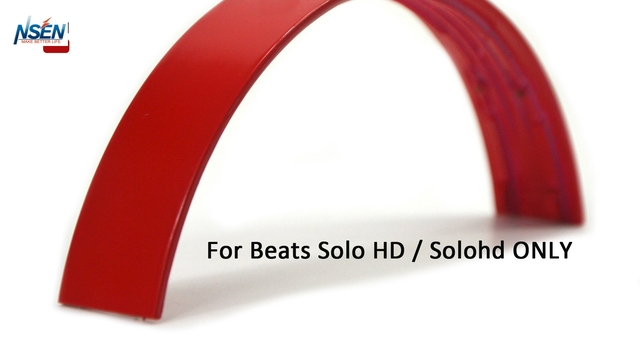 NSEN Replacement Top Headband Pad Cushions Repair Parts for Beats Solo HD Wired On-Ear Headphone (Red)