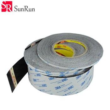 1-20mm x 50 M 3 M negro doble cara cinta adhesiva para pantalla táctil/pantalla/ carcasa/funda/Cable adhesivo