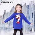 Belleza cabeza Suéter de Las Muchachas para niños 2016 de Invierno suéter Suéter de los niños Del Bebé Ropa infantil