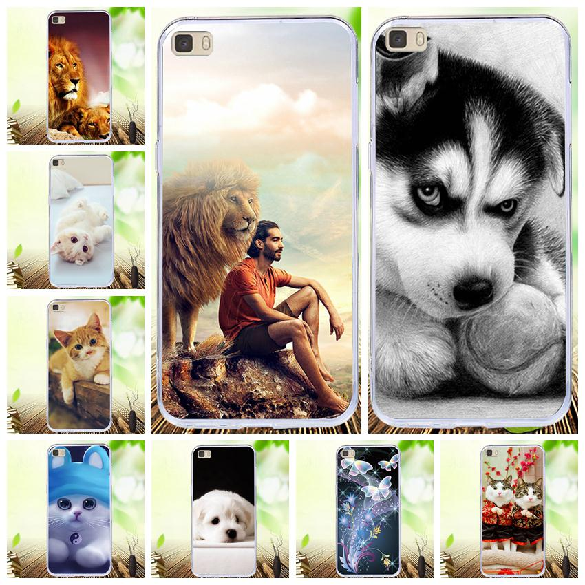 For Coque Huawei P8 Lite 2016 5.0'' Case Silicone TPU Cover Cat Bag For Huawei Ascend P8 Lite 2015 P8Lite ALE-L21 Phone Cases image