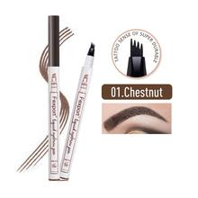 Fexport New Four Head Eyebrow Pencil Easy to Draw Long-lasting Waterproof and Sweat-proof Water-based Liquid