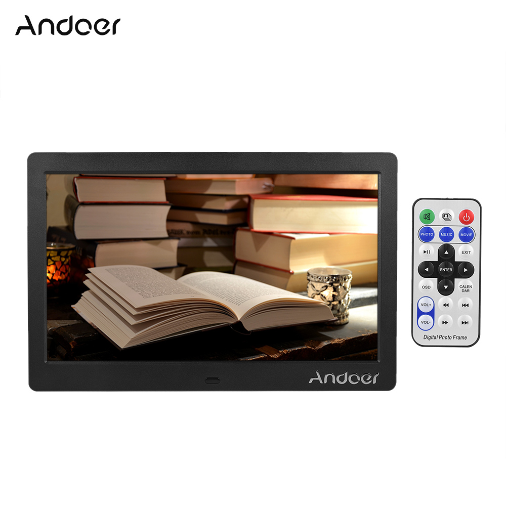 Aliexpress buy andoer 10 digital photo frame hd wide screen aliexpress buy andoer 10 digital photo frame hd wide screen lcd picture frame high resolution clock mp3 mp4 video player with remote control from jeuxipadfo Image collections