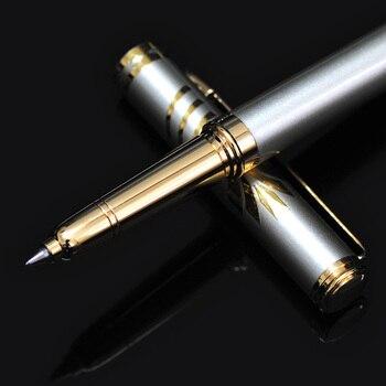 New Brand 0.5mm Metal Roller Ball Pen Luxury Ballpoint Pen for Business Writing Gift Office School Supplies Black Ink Refills