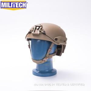 Image 3 - MILITECH M/LG CB NIJ level IIIA 3A Air Frame Aramid Bulletproof Airframe Helmet With Ballistic Test Report 5 Years Warranty