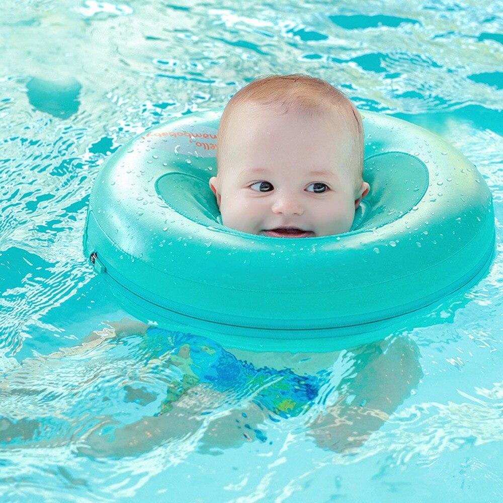 Enfant non bouée gonflable cou entraîneur de natation pas besoin pompe à air bébé de bain de natation anneau flottant conformation ronde accessoires