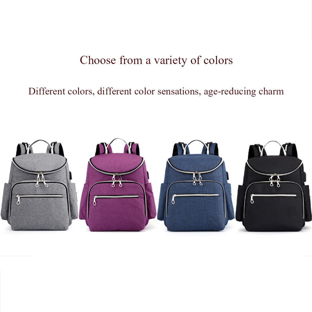 Mummy Bag with USB Large Capacity Baby Travel maternity diaper Backpack Bag  High Quality Youth Backpacks for Teenage GirlsMummy Bag with USB Large Capacity Baby Travel maternity diaper Backpack Bag  High Quality Youth Backpacks for Teenage Girls